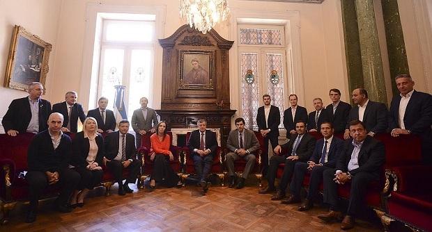 Macri recibió a gobernadores peronistas en Casa de Gobierno